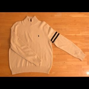 Men's Polo Ralph Lauren Quarter Zip Sweater size L